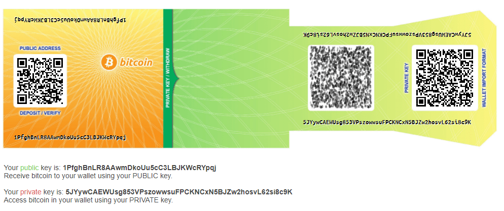 Bitcoin paper wallets 2