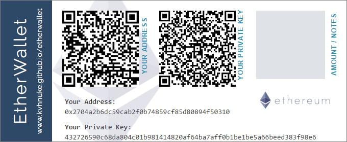 What is a paper wallet